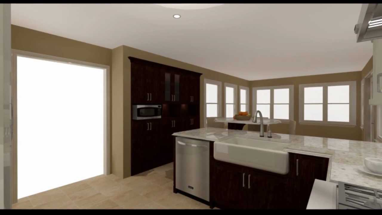 U Shaped Kitchen Remodel
