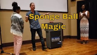 Magic Trick- Sponge Ball Magic Trick from live show at Dave and Buster's