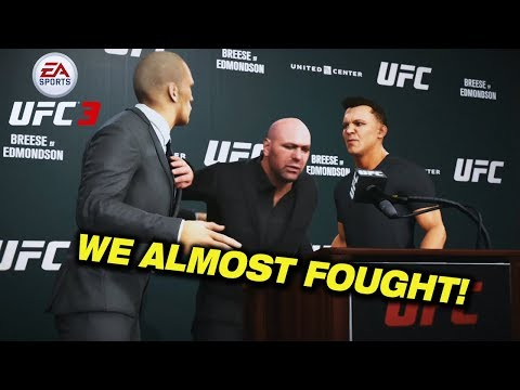 WE FOUGHT AT THE PRESS CONFERENCE?!?! EA SPORTS UFC 3 Career Mode | Ep 6 |