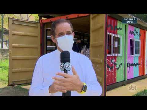 Reportagem do SBT: Mercadinho do Bem ( Container da Creche Paraisópolis) Instituto Anglicano