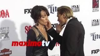 Charlie Hunnam & Katey Sagal | Sons of Anarchy Season 7 Premiere