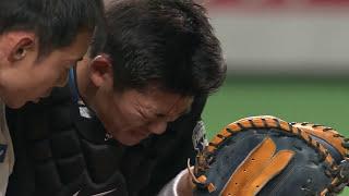 【プロ野球パ】大野、スイング後のバットが頭部に直撃し流血・・・ 2015/05/13 F-L thumbnail