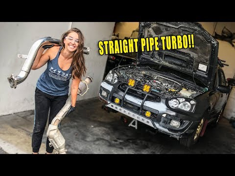 NEW STRAIGHT PIPE WRX SOUNDS AMAZING!! *RARE JDM EXHAUST*