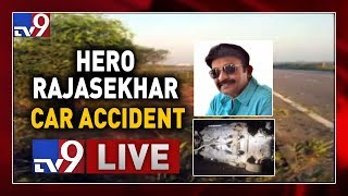 Hero Rajasekhar Car Met With Accident LIVE || Outer Ring Road - TV9