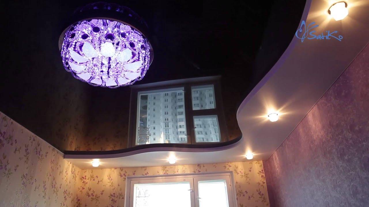 потолки натяжные волной фото