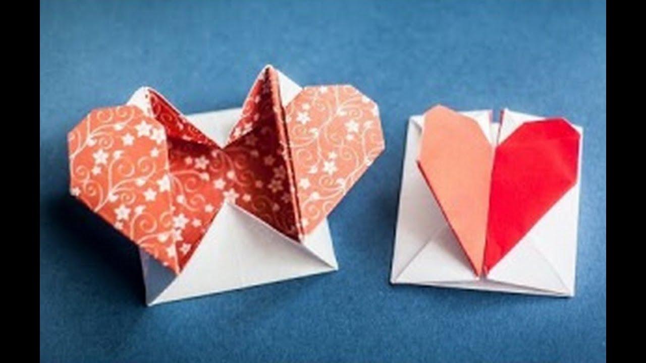 Коробочка оригами для подарка