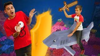 Обзор видео игры Майнкрафт - Нуб и Про в Подводном Замке! - Гейм шоу Кубик Нубика.