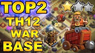 TOP 2 TH12 WAR BASE 2018 Anti 2 Star With +7 Replays Anti Bowler Miner Anti E-Dragon Anti Everything
