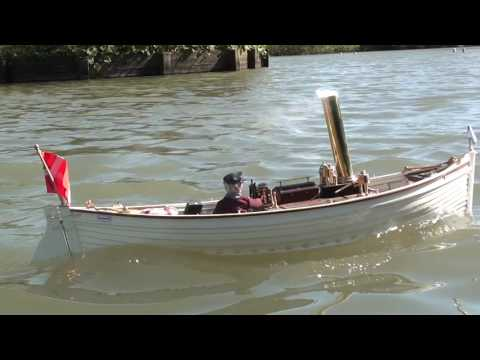 Rc electric STEAM  boat Ada (old smokey)
