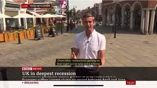 Mark Coldham talks to BBC News in High Wycombe on 12th August 2020