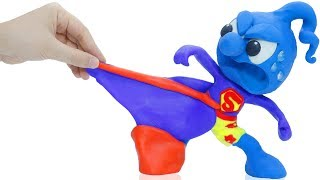 TINY TRIES ON SUPERMAN SUIT 💖 CLAY MIXER Cartoons Play Doh Stop Motion