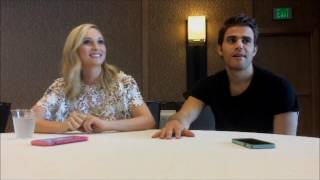 Candice King and Paul Wesley talk June Wedding, Steroline and the last season of TVD at Comic Con