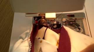 Jak začistit průkrčník na obyčejném šicím stroji 2.