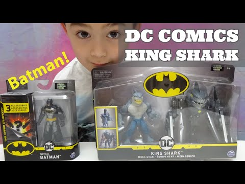 BATMAN King Shark Mega Gear 4-Inch Deluxe Action Figure with Transforming Armor