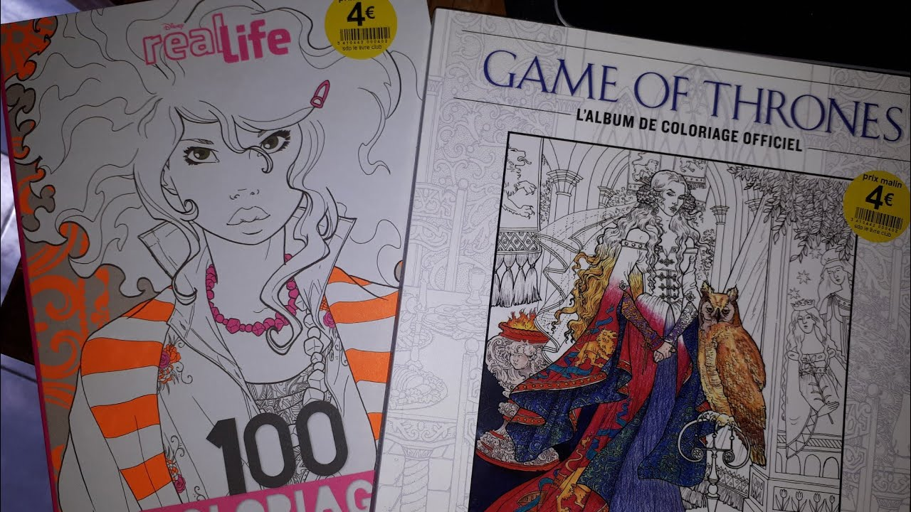 Haul Coloriage Game Of Throne Et Real Life Hachette Youtube