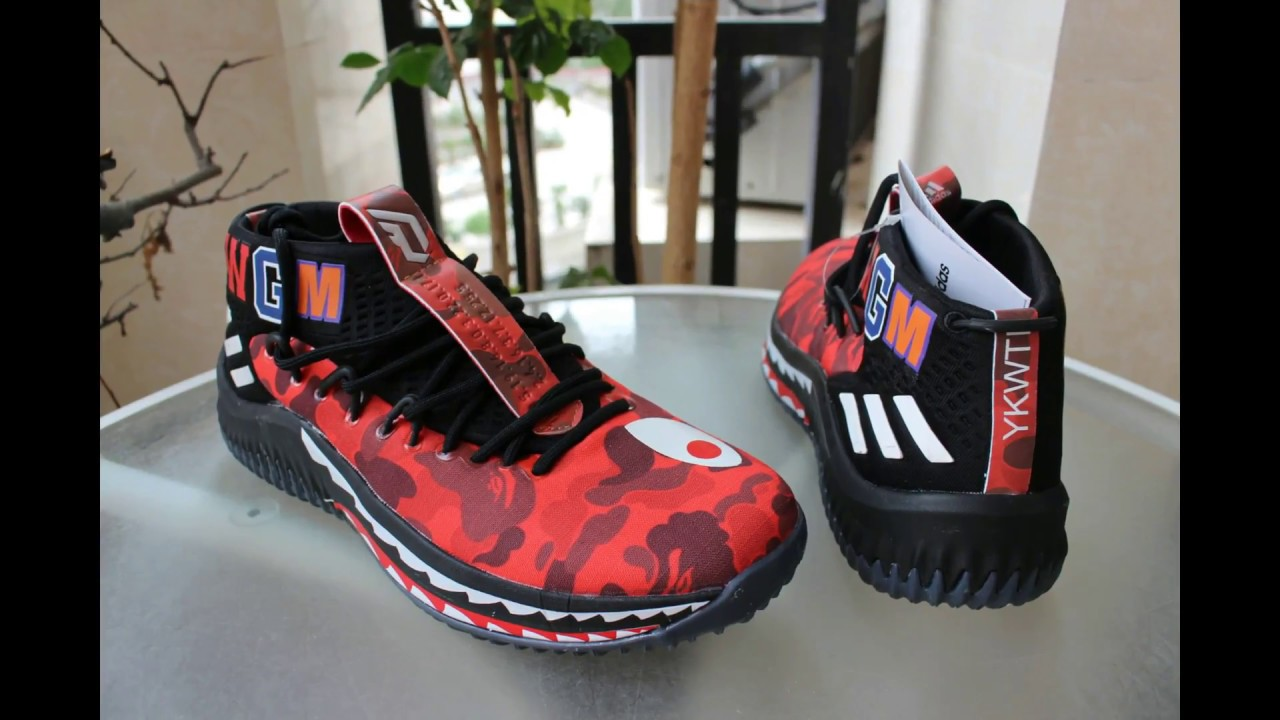 new products c7abf 68c7b Adidas A Bathing Ape x Adidas Dame 4 Camo Red REVIEW. GS Sneakers Control