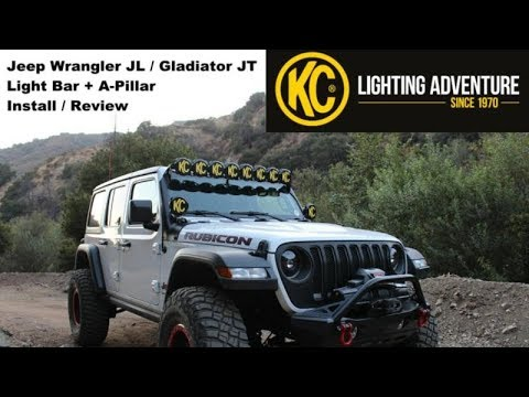 KC Gravity PRO6 LED Light Bar For The Jeep JL / JT - Install & Review