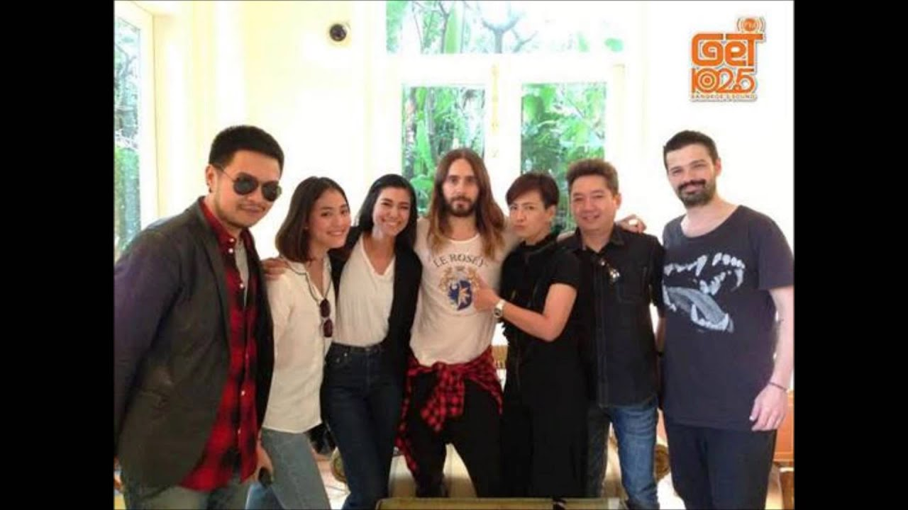 GET102.5FM interview with 30Seconds to Mars Jared leto and Tomo Milicevic in Thailand
