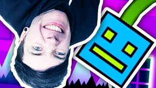 I HATE GOING UPSIDE DOWN!!! (Geometry Dash #3)