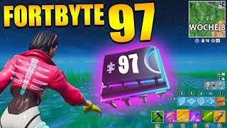 Fortnite Fortbyte 97 💻 Week 8 Loadingscreen | All Fortbyte Location Season 9 Utopia Skin Deutsch