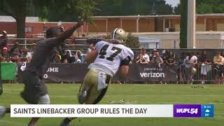 Saints Linebacker Group Rules the Day at Training Camp