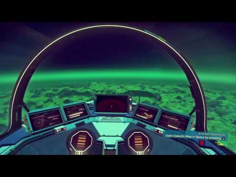 No Man's Sky Entering Atmosphere of a new planet