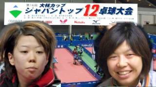 第16回JAPAN TOP12卓球 準決勝 藤沼亜衣 vs 若宮三紗子
