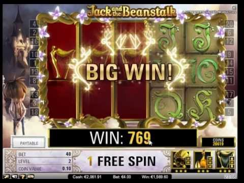 Jack and the Beanstalk Slot - 4 Euro Bet - Freespin Feature - Big Wins (418x Bet)