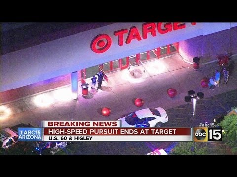 High-speed pursuit ends at Mesa Target