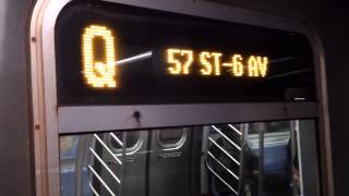 MTA FASTRACK:57th Street/6th Avenue-bound R160B Q Train@Broadway/Lafayette Street
