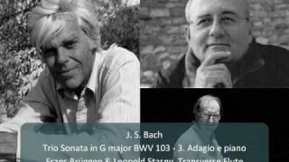 J S Bach Trio Sonata For Flutes And Continuo In G Major BWV 1039 3 Adagio E Piano 3 4