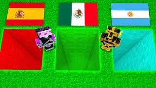 ¿¡CUAL ES EL AGUJERO DEL MEJOR PAÍS EN MINECRAFT!? ARGENTINA, MÉXICO Y ESPAÑA