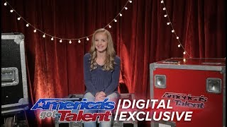 Singer Evie Clair Chats About Singing for Simon Cowell - America's Got Talent 2017