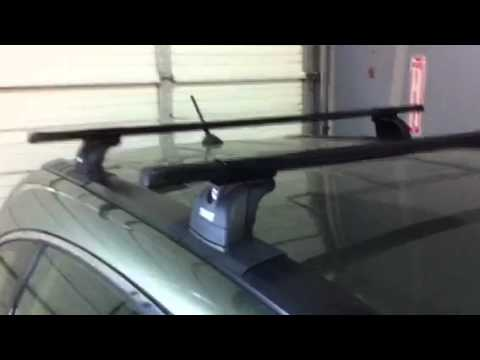 2007 2011 honda cr v with thule 460 podium square bar roof rack by rack outfitters