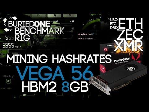 AMD Vega 56 8GB Crypto Mining Benchmarks: ETH/ZEC/XMR