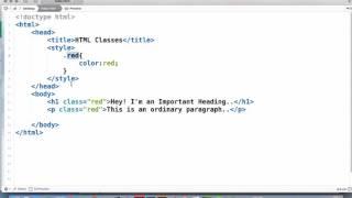 HTML CLASSES (Class Attribute)