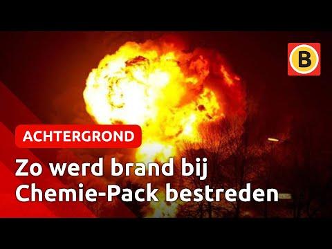 Reconstructie brand bij Chemie-Pack in Moerdijk