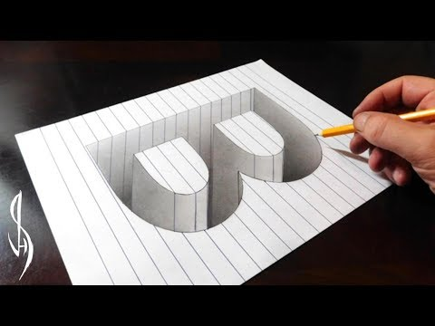 drawing-b-hole-in-line-paper---3d-trick-art-optical-illusion