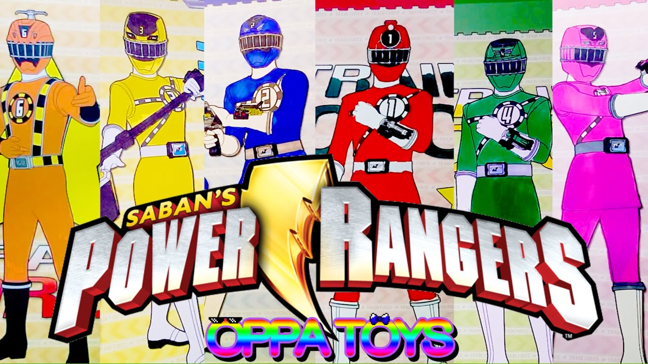 Power Rangers Learn Colors Power Rangers Rail Force