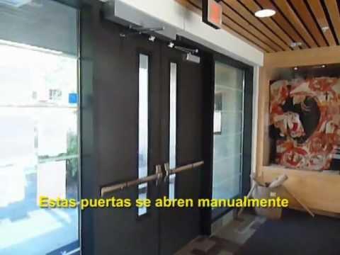 Pensacola puerta para discapacitados youtube for Puerta para bano discapacitados