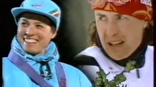 1994 02 24 Олимпийские игры Лиллехаммер лыжные гонки 30 км женщины классический стиль