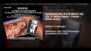 Symphony No. 9 in D Minor, Op. 125: II. Molto vivace - Presto - Molto vivace