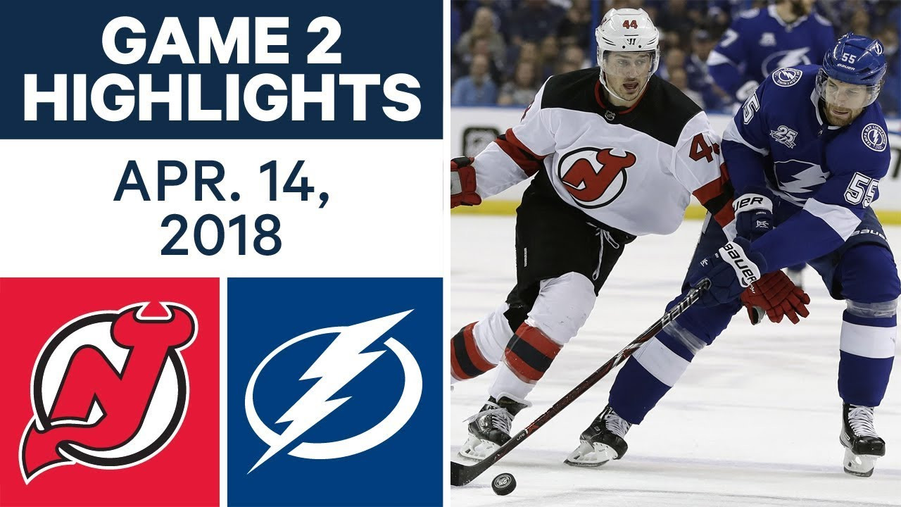 NHL Highlights | Devils vs. Lightning, Game 2 - Apr. 14 2018
