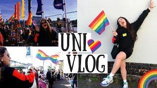 UNI VLOG | Lincoln Pride, Library Books & BTS Filming 😁😮🌈