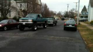 Dragging the Ford to free up motor