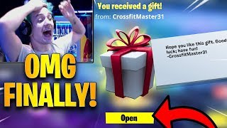 Ninja Reacts To *NEW* Gifting System Added To Fortnite! *FINALLY* | Fortnite Highlights