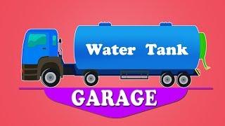 Water tank garage for kids and children