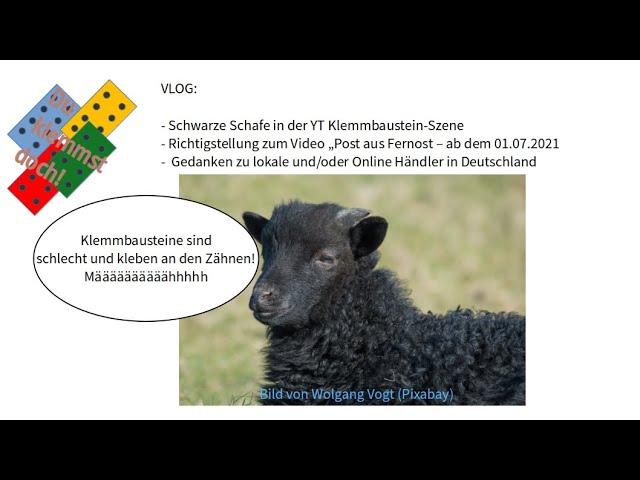 VLOG: Schwarze Schafe in der YT-Klemmbaustein-Szene / Richtigstellung/ meine Gedanken zu Händlern