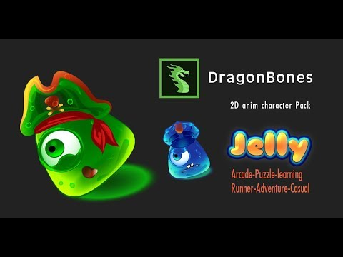 Asset store Unity3d - 2D anim Jelly Pack v.2.2 - DragonBones Pro to Sprite Sheet