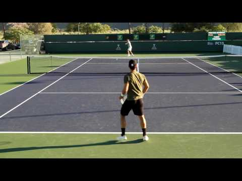 Fabio Fognini Practice 2017 BNP Paribas Open Indian Wells
